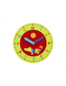 Relógio de Ensino de Madeira - Crocodilo
