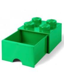Caixa de Arrumação Com Gaveta Verde - 4 Brick