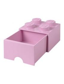 Caixa de Arrumação Com Gaveta Rosa Clara - 4 Brick