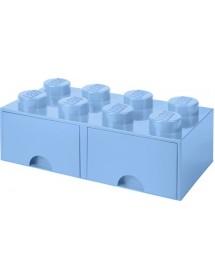 Caixa de Arrumação Com Gaveta Azul Clara - 8 Brick