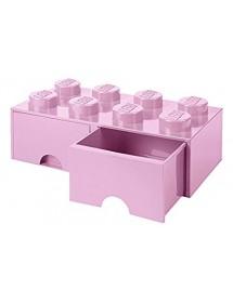 Caixa de Arrumação Com Gaveta Rosa Clara - 8 Brick