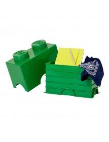 Caixa de Arrumação Verde - 2 Brick