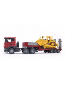 Scania R-Séries Low Loader Truck Com CAT Bulldozer