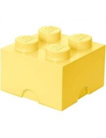 Caixa de Arrumação Amarela Clara - 4 Brick