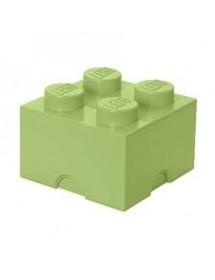 Caixa de Arrumação Verde Amarelada - 4 Brick