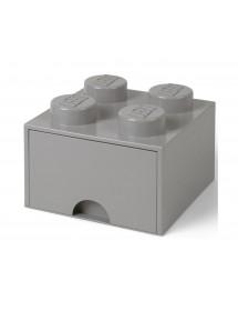 Caixa de Arrumação Com Gaveta Cinzenta - 4 Brick