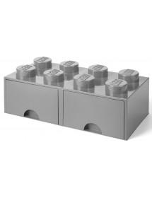 Caixa de Arrumação Com Gaveta Cinzenta - 8 Brick