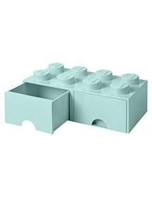 Caixa de Arrumação Com Gaveta Aqua - 8 Brick