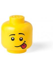 Caixa de Arrumação Cabeça Pequena - Menino Com a Língua de Fora
