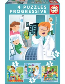 Puzzle 4 em 1 - Profissões