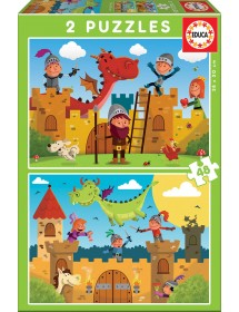 Puzzle Duplo - Dragões e Cavaleiros