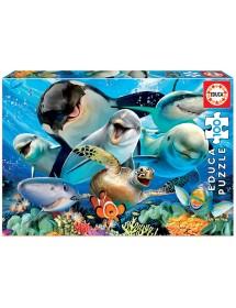 Puzzle 100 Peças - Selfie Debaixo da Água