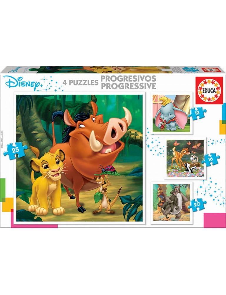 Puzzle 4 em 1 - Animais Disney