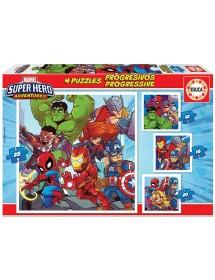 Puzzle 4 em 1 - Marvel