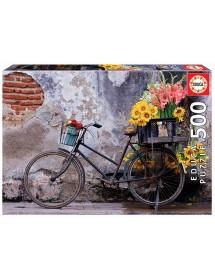 Puzzle 500 Peças - Bicicleta Com Flores