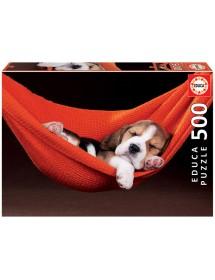 Puzzle 500 Peças - Dormir Numa Cama de Rede