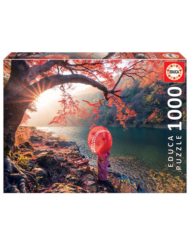 Puzzle 1000 Peças - Amanhecer no Rio Katsura