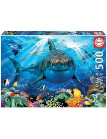 Puzzle 500 Peças - Grande Tubarão Branco