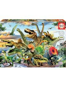 Puzzle 500 Peças - Dinossauros