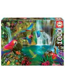 Puzzle 1000 Peças - Papagaios Tropicais