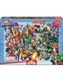 Puzzle 1000 Peças - Heróis Marvel