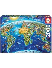 Puzzle 2000 Peças - Símbolos do Mundo