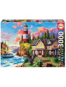 Puzzle 3000 Peças - Farol Junto ao Oceano