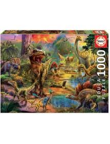 Puzzle 1000 Peças - Terra de Dinossauros