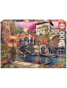 Puzzle 3000 Peças - Romance em Veneza