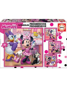 Puzzle 4 em 1 - Minnie Happy Helper