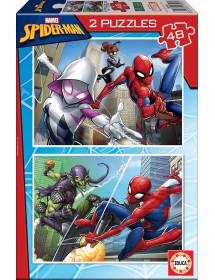 Puzzle Duplo 48 Peças - Spider-Man