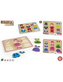 Puzzle de Madeira - Princesa / Princípe (Aleatório)