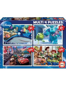 Puzzle 4 em 1 - Disney Pixar
