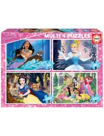 Puzzle 4 em 1 - Disney Princess