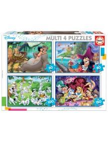 Puzzle 4 em 1 - Disney Clássicos