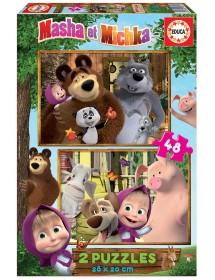 Puzzle Duplo 48 Peças - Masha e o Urso