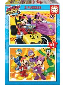 Puzzle Duplo 48 Peças - Mickey