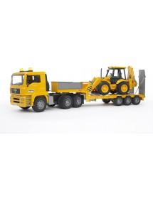 MAN TGA Camião de Transporte Com Carregadora e Escavadora JC