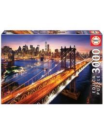Puzzle 3000 Peças - Manhattan ao Pôr do Sol
