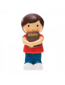 Menino Com Bíblia - T-Shirt Vermelha