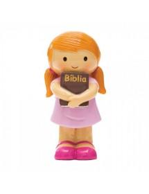 Menina Com Bíblia - Vestido Rosa